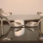 Свадебные туфли невесты  в серебрянном цвете