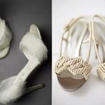 Свадебные туфли невесты с перьями