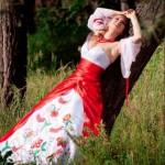 Сексапильное платье в украинском стиле
