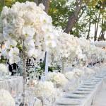 Свадебные канделябры с орхидеями