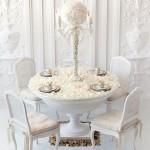 Свадебный канделябр декорированный цветами