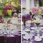 Цветочные композиции с пурпурными цветами