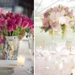 Цветочные композиции розовых оттенков