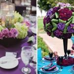 Цветочные композиции с фиолетовыми цветами