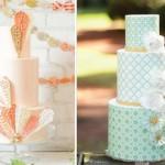 Контраст бирюзового и оранжевого тортов