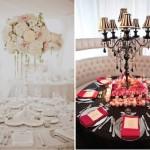 Свадебные столы с цветочными композициями