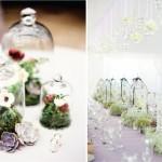 Зеленый мох в свадебной композиции