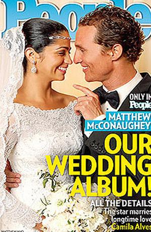 Мэттью и невеста на обложке журнала