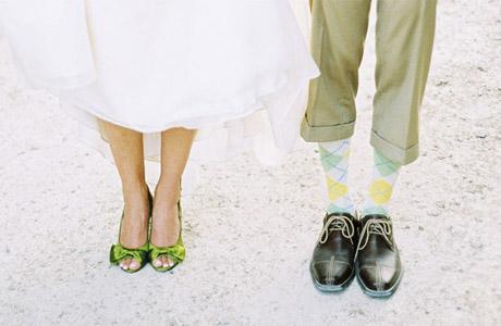 Обувь для невесты - зеленый цвет
