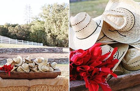 Оформление свадьбы в техасском стиле