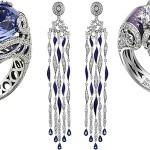Стильные кольца и серьги