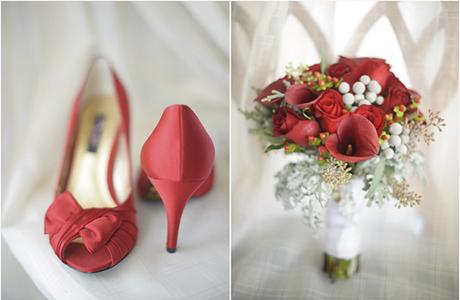 """Обувь для невесты и букет """"в тон"""""""