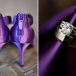 Обувь для пурпурной свадьбы