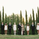 Гости с женихом и невестой