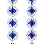 Длинные серьги от Louis Vuitton с сапфирами