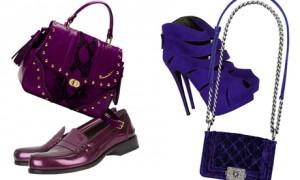Фиолетовый - модный тон осени 2012