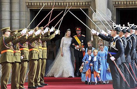 Звездная свадьба: кронпринц Гийом и кронпринцесса Стефани