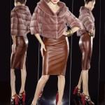 Болеро и кожаная юбка - отличный дуэт