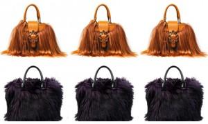 Зимой 2013 года в моде сумки с мехом