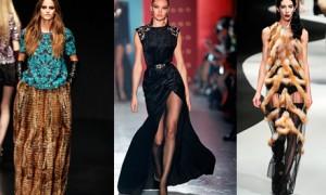Юбки и платья их меха - модная новинка зимы 2013