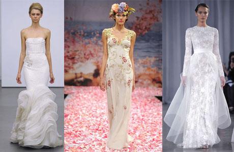 Свадебные платья зимы 2013