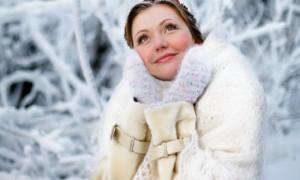 Зимний макияж невесты - румянец и естественность