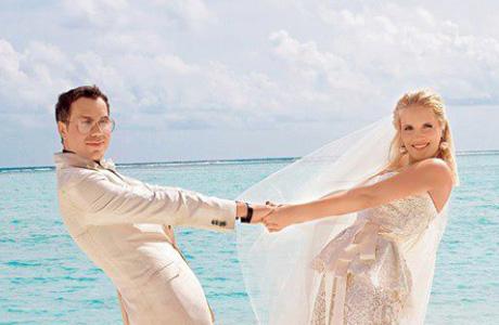 Андре Тан и Алина сыграли свадьбу на Мальдивах