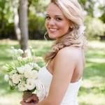 Шикарная прическа невесты 2013