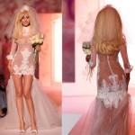 Прозрачный свадебный наряд