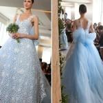 Невеста в наряде от Оскар де ла Рента