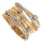 Шикарное обручальное кольцо с алмазами