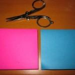 Шаг 2 - выбираем бумагу другого цвета